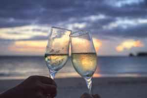 sea sunset beach couple